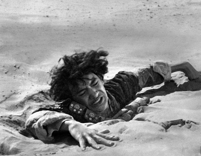 Fighting pain like struggling in quicksand